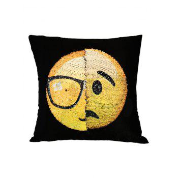 Disappointed Face Reverisble Sequin Decorative Pillow Case