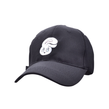 Baseball Hat with Cartoon Rabbit Head Embroidery
