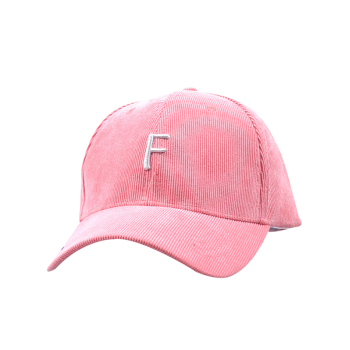 Label F Embellished Corduroy Baseball Hat