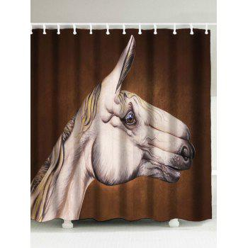 Horse Head Printed Water Resistant Shower Curtain