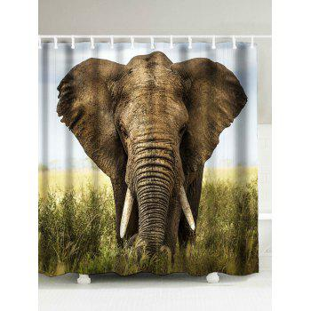 Elephant Printed Waterproof Fabric Shower Curtain