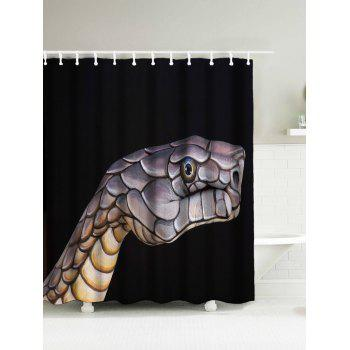 Snake Head Fabric Shower Curtain with Hooks