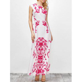 Printed Cap Sleeve Maxi Dress