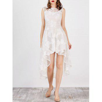 High Low Butterfly Sleeveless Formal Lace Dress