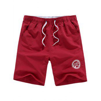 Graphic Drawstring Shorts