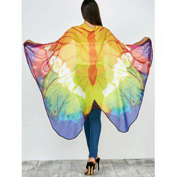 Color Mix Light Butterfly Wing Chiffon Pashmina with Straps