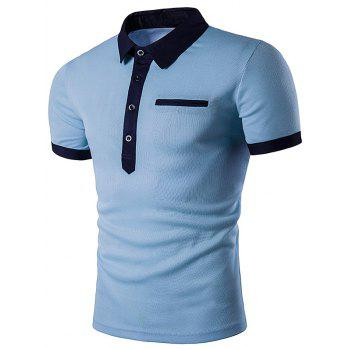 2018 Embellished Fake Pocket Polo T-Shirt LIGHT BLUE M In T-Shirts Online  Store. Best Beach Shorts For Sale | DressLily.com