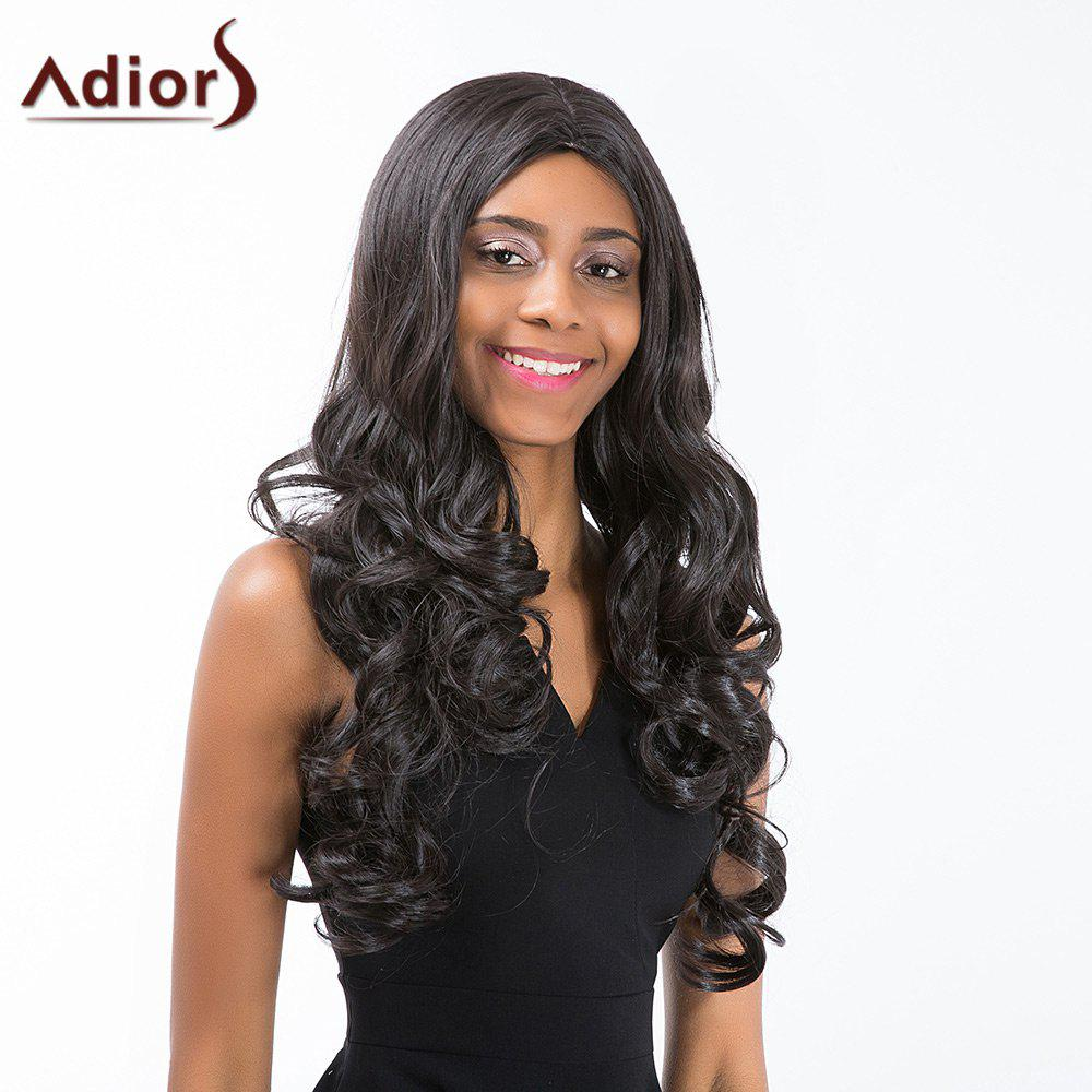 Adiors Long Middle Part Shaggy Wavy Synthetic Wig