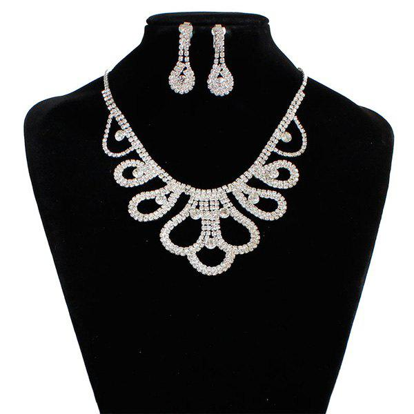 Floral Rhinestone Wedding Jewelry Set new arrival chinese electric guitar t5 model top quality in blue free shipping 130315