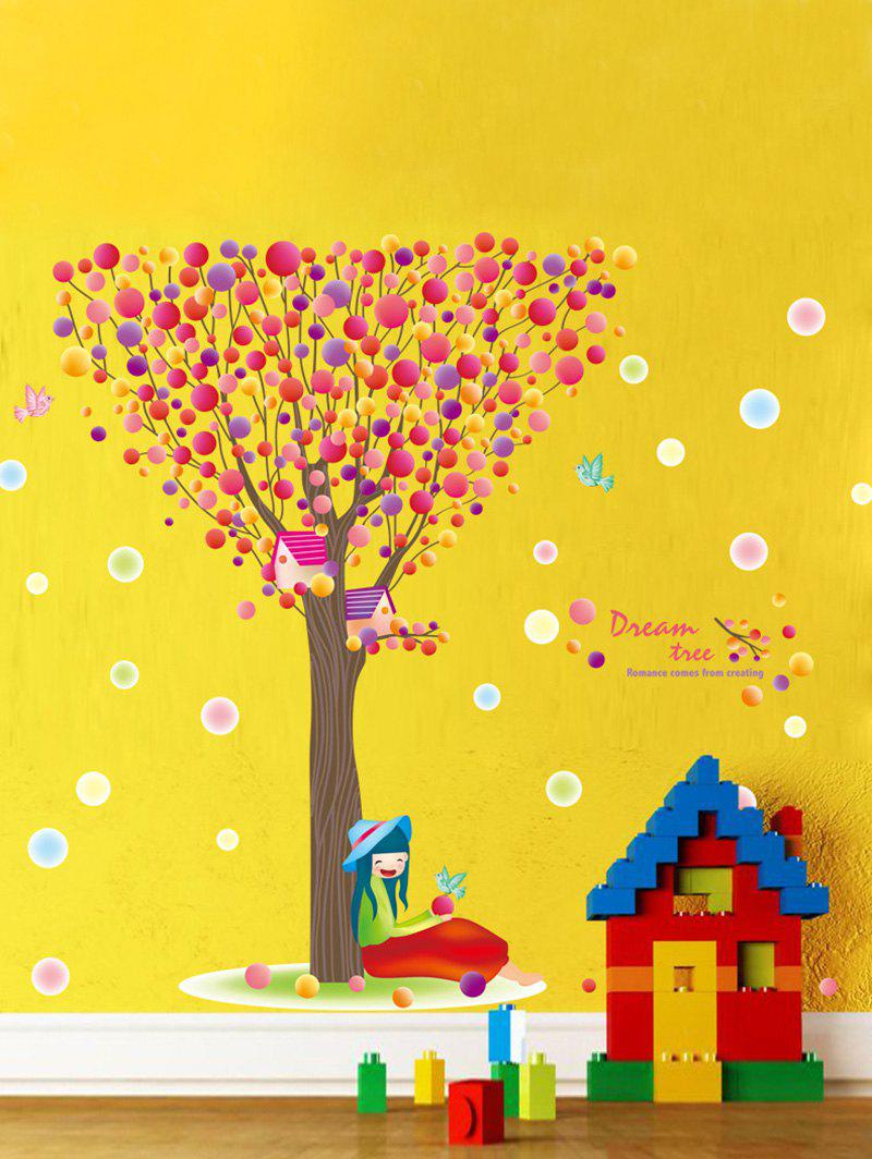 2018 Waterproof Colorful Bubble Tree Print Children Room Wall ...