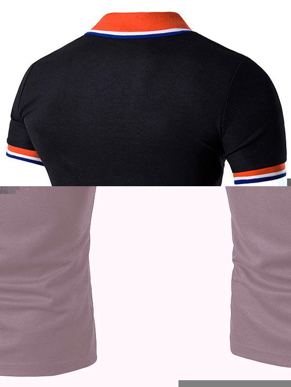 2018 striped polo t shirt with fake pocket black s in t for Polo t shirts with pocket online