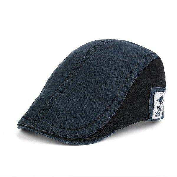 Applique Panel Design UV Protection Jeff Cap - MIDNIGHT