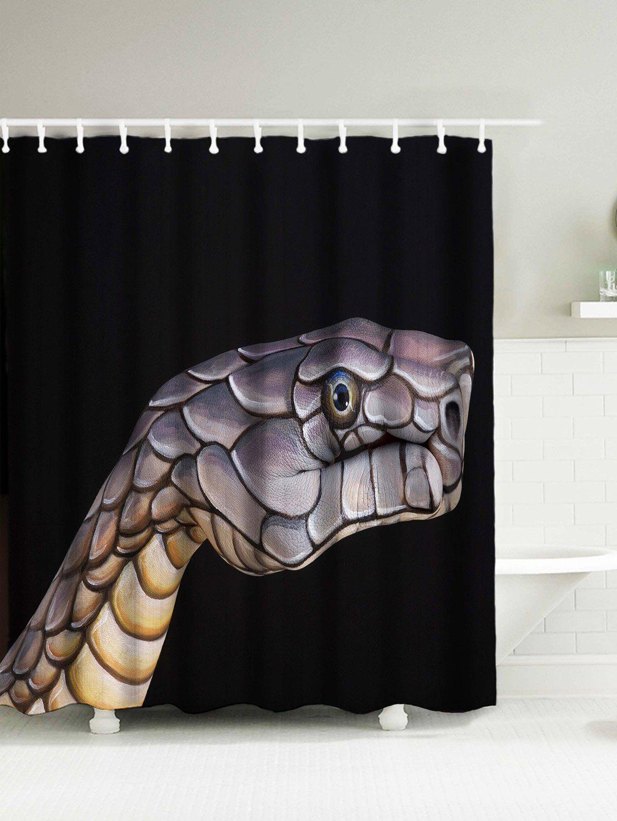 Snake Head Fabric Shower Curtain with Hooks thule smartrack 795