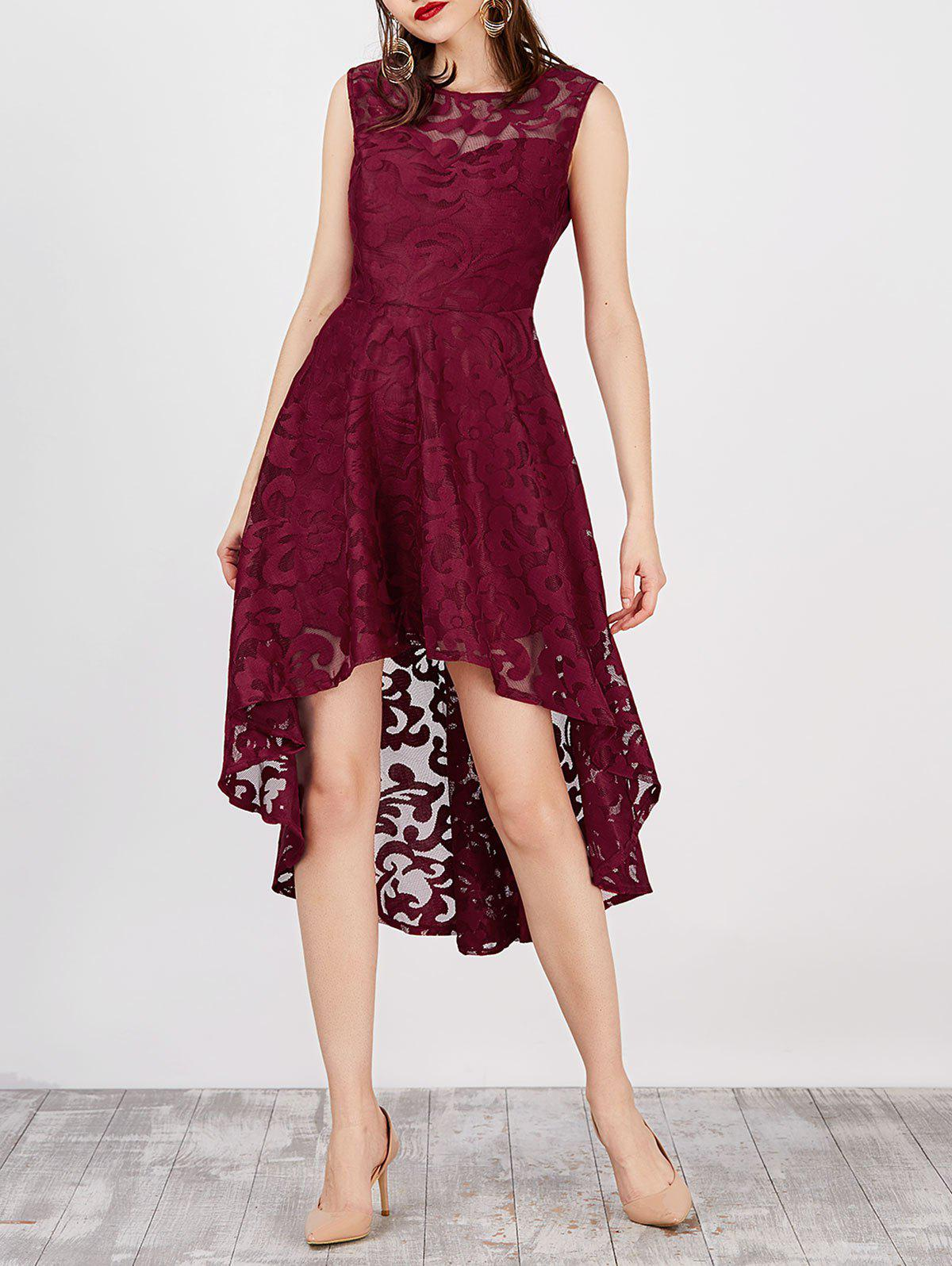 Lace High Low Swing Evening Party Dress lace high low swing evening party dress