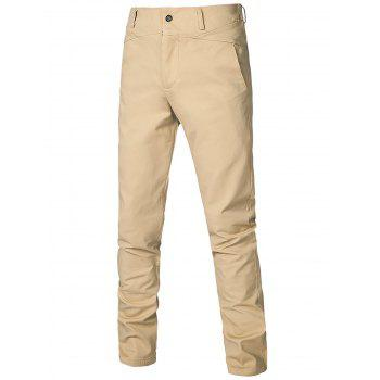 Zipper Fly Straight Leg Casual Pants