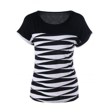 Cuffed Sleeve Graphic T-Shirt