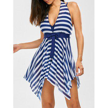 Stripe Handkerchief One Piece Swimwear