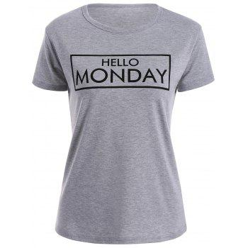 Short Sleeve Hello Monday Graphic Tee