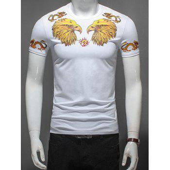 Eagle and Dragon Printed T-Shirt