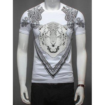Paisley and Tiger Print T-Shirt