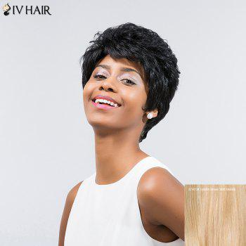 Siv Hair Layered Short Inclined Bang Curly Human Hair Wig