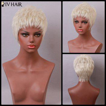 Siv Hair Short Fluffy Layered Cut Neat Bang Human Hair Wig