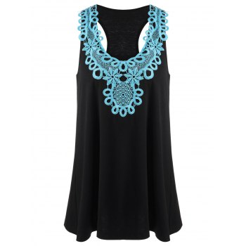 Applique Racerback Tank Top