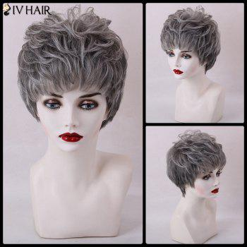 Siv Hair Short Fluffy Layered Full Bang Capless Human Hair Wig