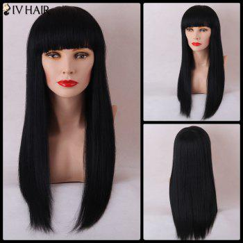 Siv Hair Long Capless Straight Neat Bang Human Hair Wig