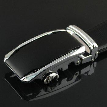 Geometric Metal Buckle Fake Leather Belt - SILVER