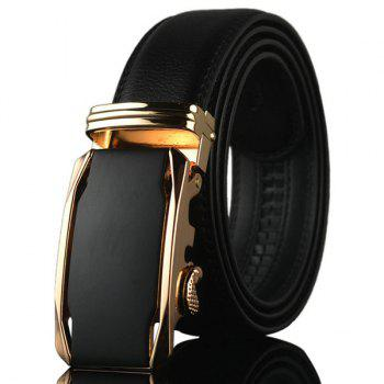 Geometric Metal Buckle Fake Leather Belt