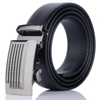 Artificial Leather Metallic Auto Buckle Belt