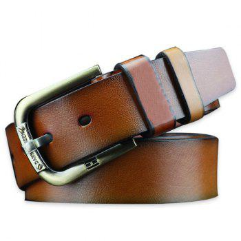 Vintage Pin Buckle Faux Leather Belt