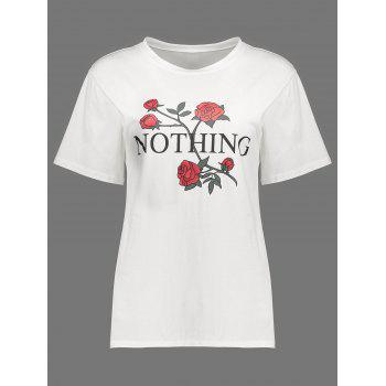 Floral Print Nothing Graphic Tee
