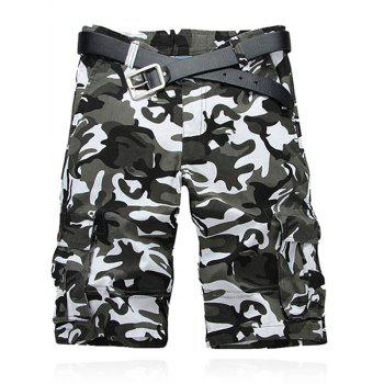Multi Pockets Camouflage Pattern Cargo Shorts