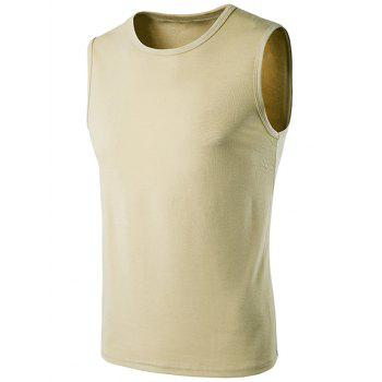 Sleeveless Crew Neck T-Shirt