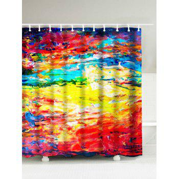 Abstract Painting Water Repellent Graffiti Shower Curtain
