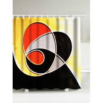 Abstract Geometry Water Resistant Drawing Shower Curtain