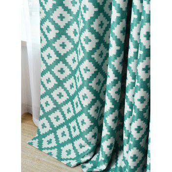 Shading Fenêtre Blackout Curtain Pour Living Room - Turquoise W41 INCH*L83 INCH