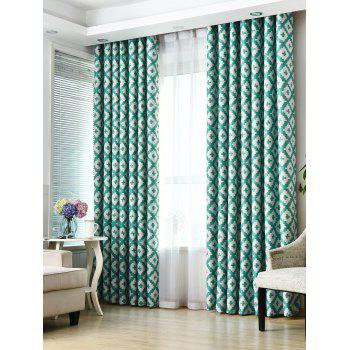 Shading Window Blackout Curtain For Living Room - TURQUOISE W53 INCH*L95 INCH