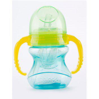 Melado Double Handles Baby Feeding Straw Drinking Bottle - BLUE BLUE