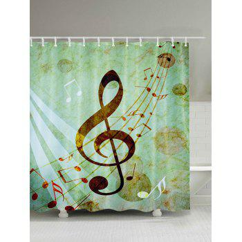 Music Score Print Shower Curtain