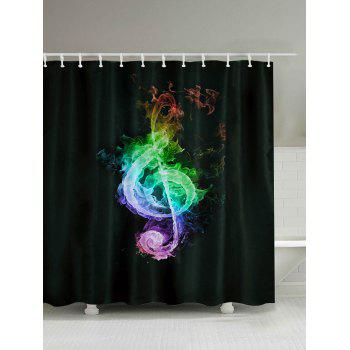 Musical Note Print Shower Curtain