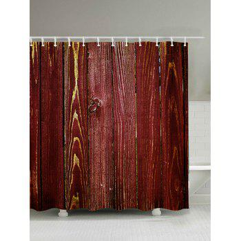 Wood Grain Bathroom Shower Curtain