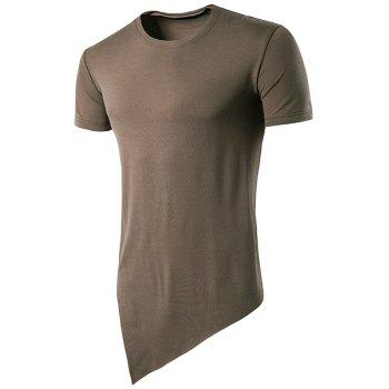 Basic Asymmetric Hem T-Shirt