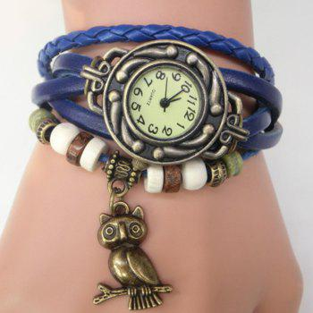 Owl Number Vintage Bracelet Watch