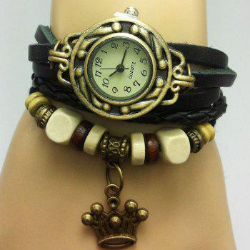 Crown Number Vintage Bracelet Watch