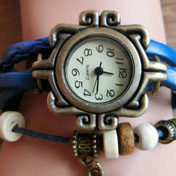 Dragonfly Number Vintage Bracelet Watch -  BROWN