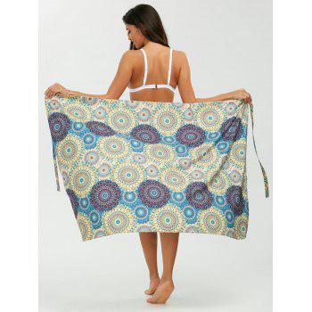 Tribal Loop Printed Lace Up Sarong