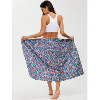 Tribal Loop Printed Lace Up Sarong - PURPLE PURPLE